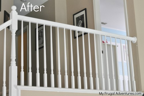 How to paint stairways white