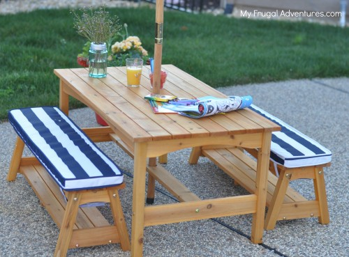 Incredible Kidkraft Outdoor Table And Chair Set For Children 159 My Bralicious Painted Fabric Chair Ideas Braliciousco