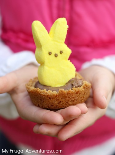 Peeps Smore Cupcake Bites- fun Easter treat!