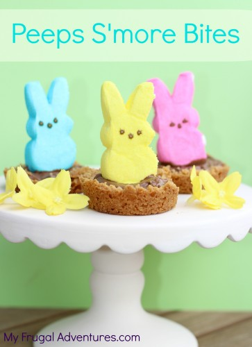 Peeps Treats for Easter- Peeps S'More Bites