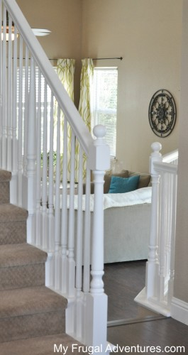 Great How To Paint Stair Railings  Budget Friendly And You Wonu0027t Believe The  Difference
