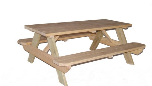 Lowes Pine Picnic Table My Frugal Adventures - Treated lumber picnic table