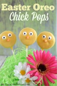 Easter Oreo Chick Pops