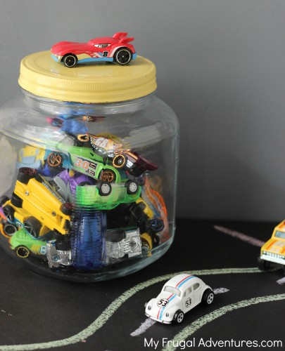 How to make a car jar-- storage for Hot Wheels!