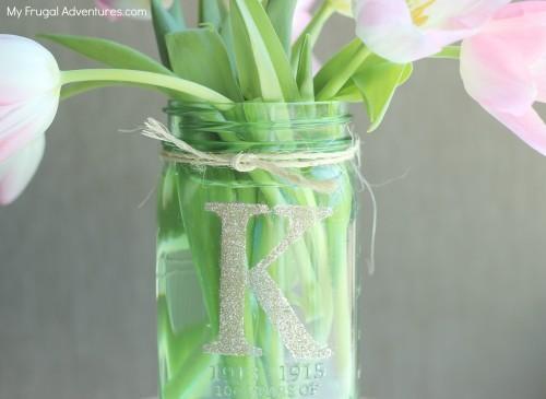 Monogrammed mason jars