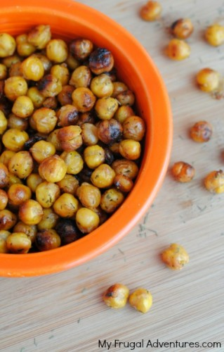 Ranch Roasted Chickpeas- a fantastic crunchy snack!