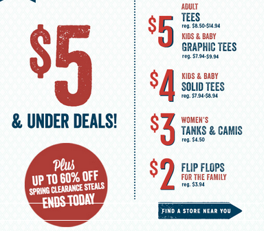 t shirt sale old navy