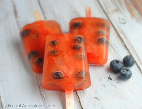Blueberry and Fruit Punch Popsicle Recipe