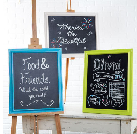 if you have any parties coming up i thought these chalkboard signs might be cute plus michaels has buy one get one frames this week