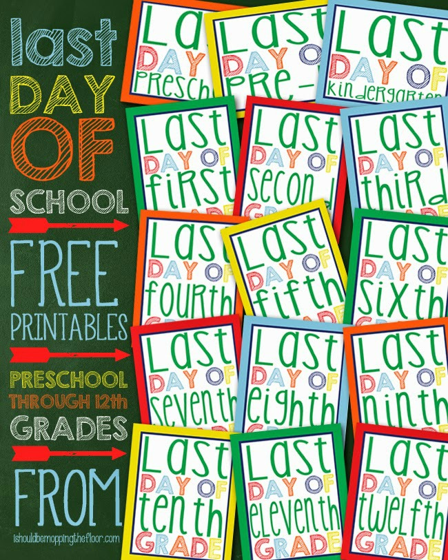 It's just an image of Obsessed Last Day of School Printable