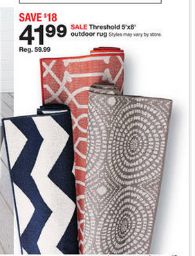 Captivating I Also Mentioned This Great Deal On Patio Rugs In The Weekly Matchups But  If You Missed It, Target Has 5×8 Patio Rugs For $41 This Week.