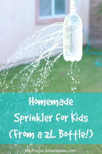 Homemade Sprinkler for Kids- from a 2L