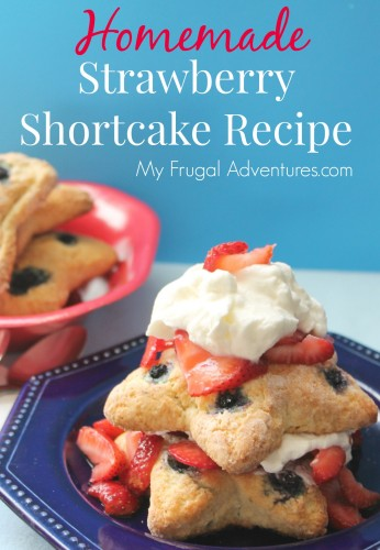 Homemade Strawberry Shortcake Recipe - so perfect for 4th of July!