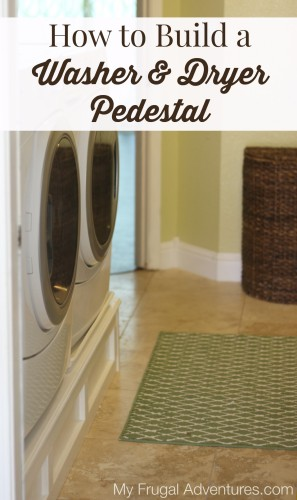 How to build a washer and dryer pedestal my frugal adventures how to build a washer and dryer pedestal solutioingenieria Gallery