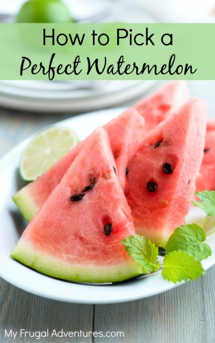 How to Pick a Perfect Watermelon- easy tips to use at the grocery store!