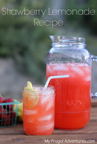 Quick and easy Strawberry lemonade recipe- so refreshing!
