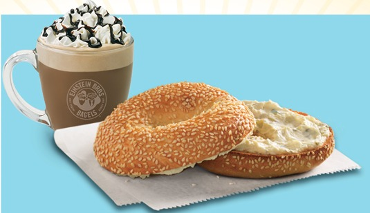 Einstein or Noah's Bagels: Free Bagel and Shmear with Purchase ...