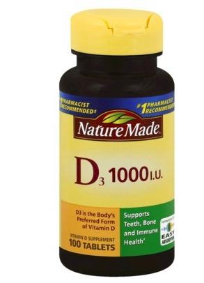Target: Nature Made Vitamin D.