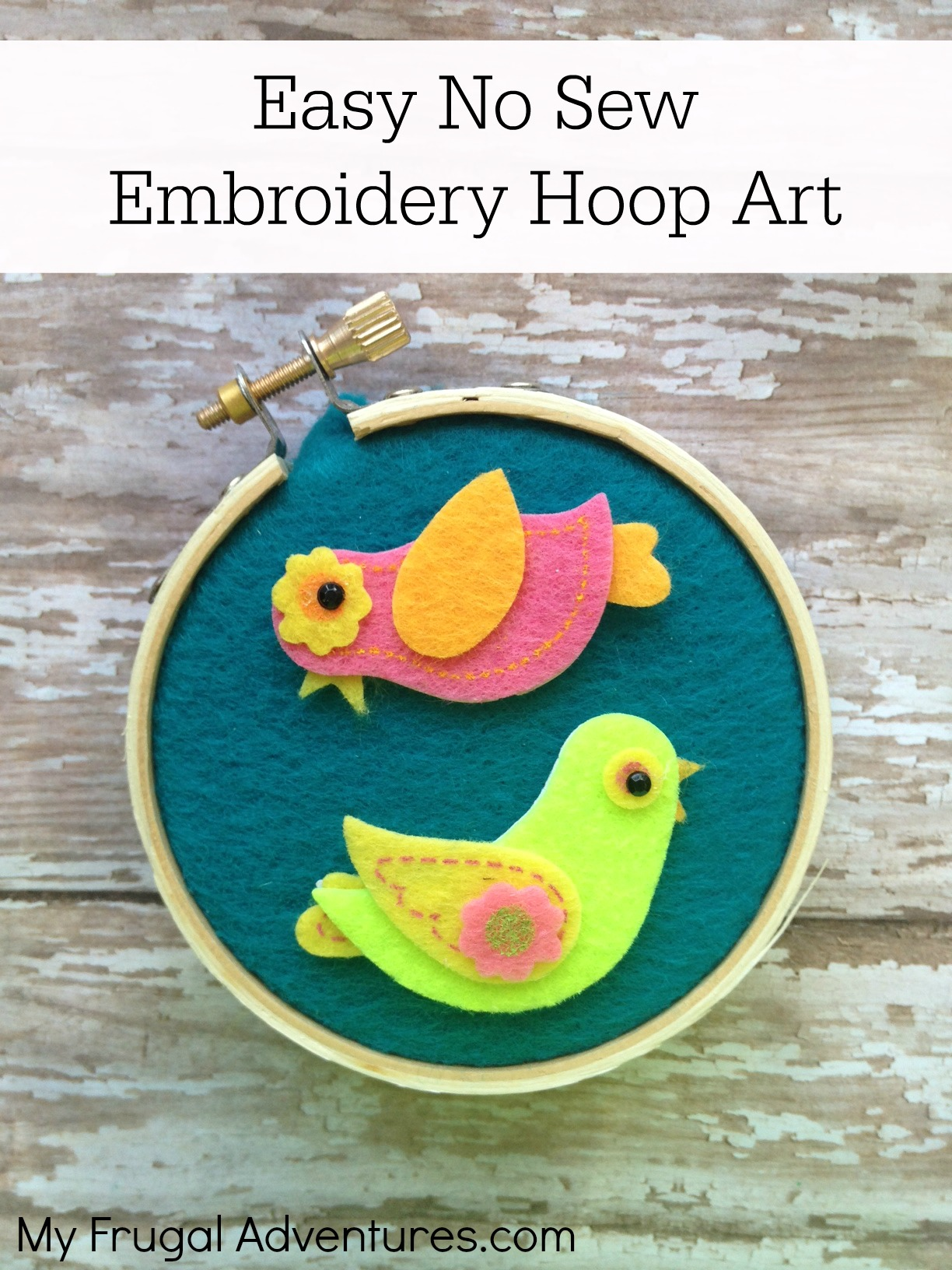 No sew embroidery hoop art craft perfect children s