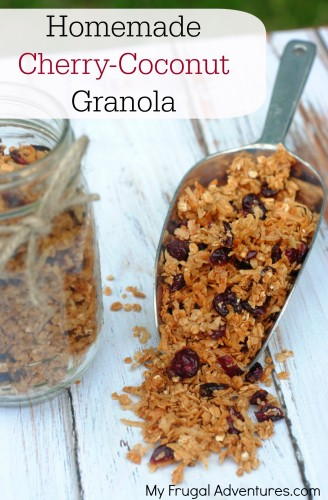 Homemade Cherry Coconut Granola Recipe