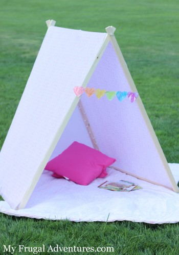 How to Make a Children's Tent - so easy and so inexpensive!