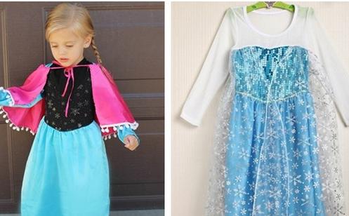 Anna and Elsa Girl's Dresses...
