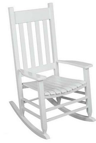 white rocking chair $54 (from $99) - my frugal adventures