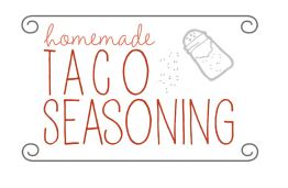 taco seasoning label