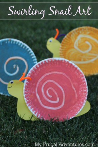 Children's Craft Swirling Snail Art