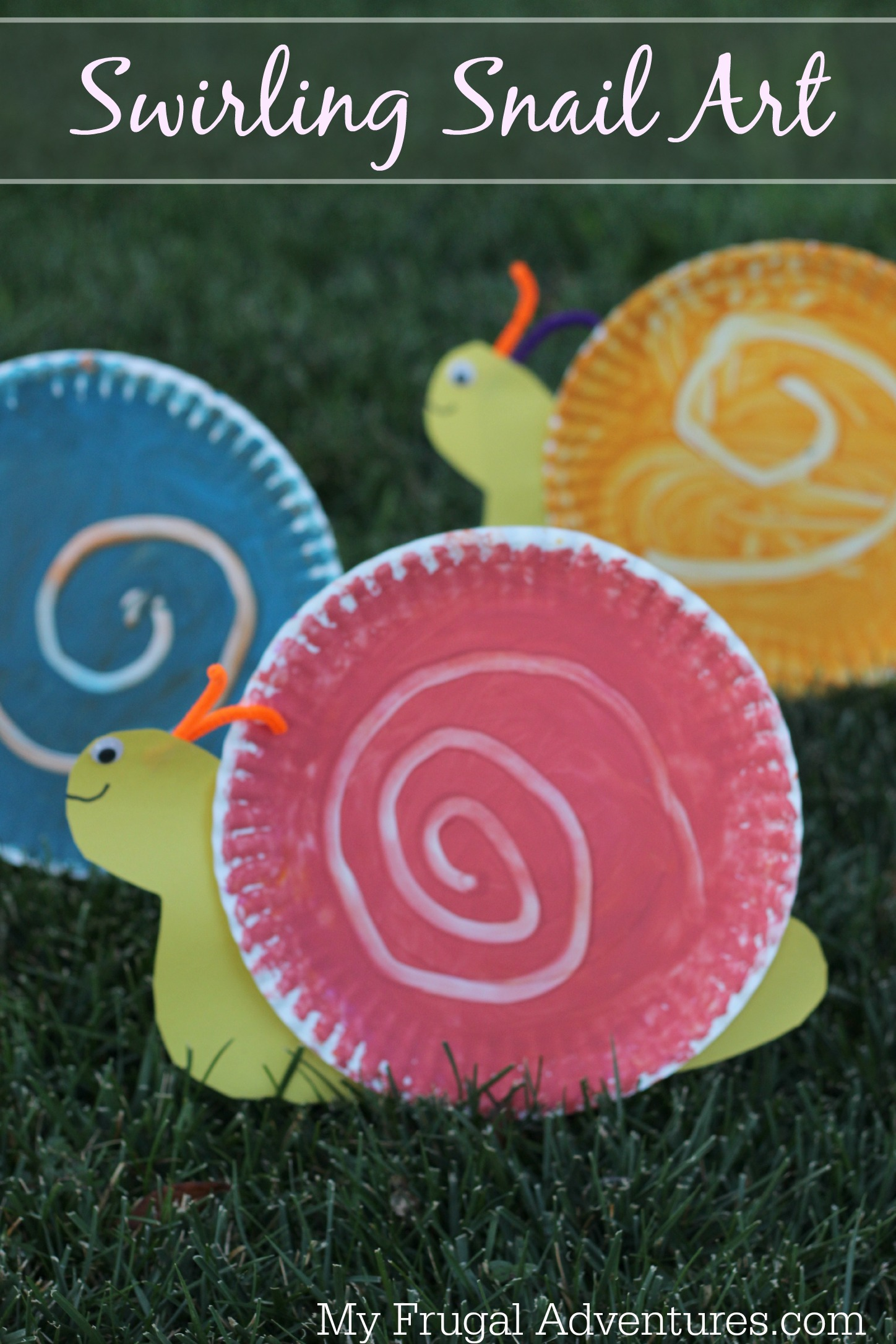 Easy Children S Craft Swirling Snail Art My Frugal Adventures