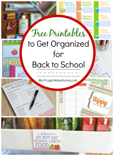Back to School Organization Ideas - My Frugal Adventures