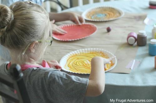 Children's Craft Swirling Snail Art