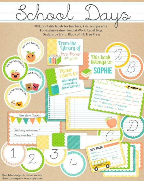 Free School Note Printables - 24/7 Moms
