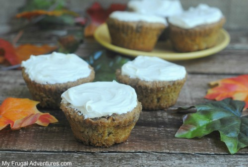 Apple Cinnamon Muffin Recipe with Cream Cheese frosting