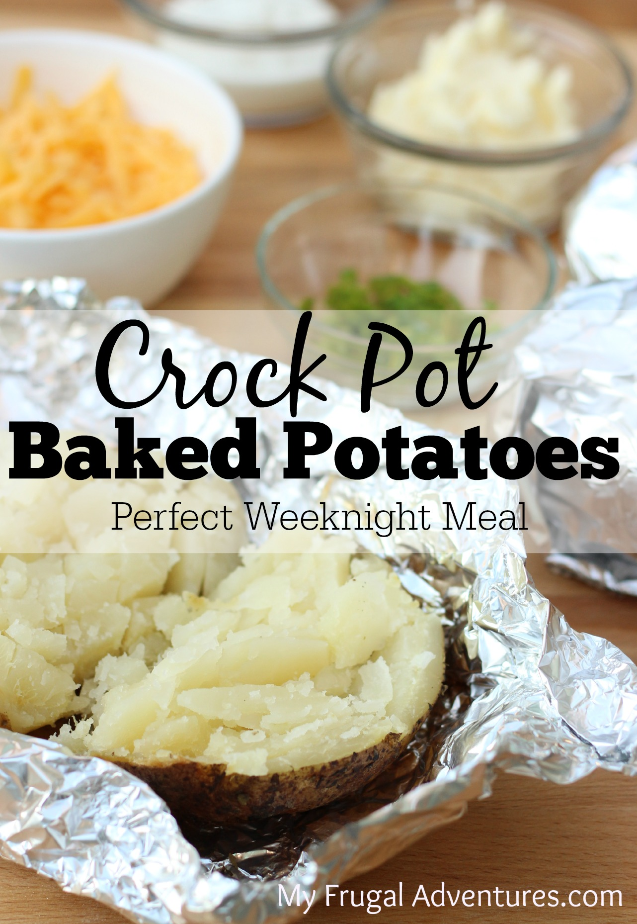 Crock Pot Baked Potatoes - My Frugal Adventures
