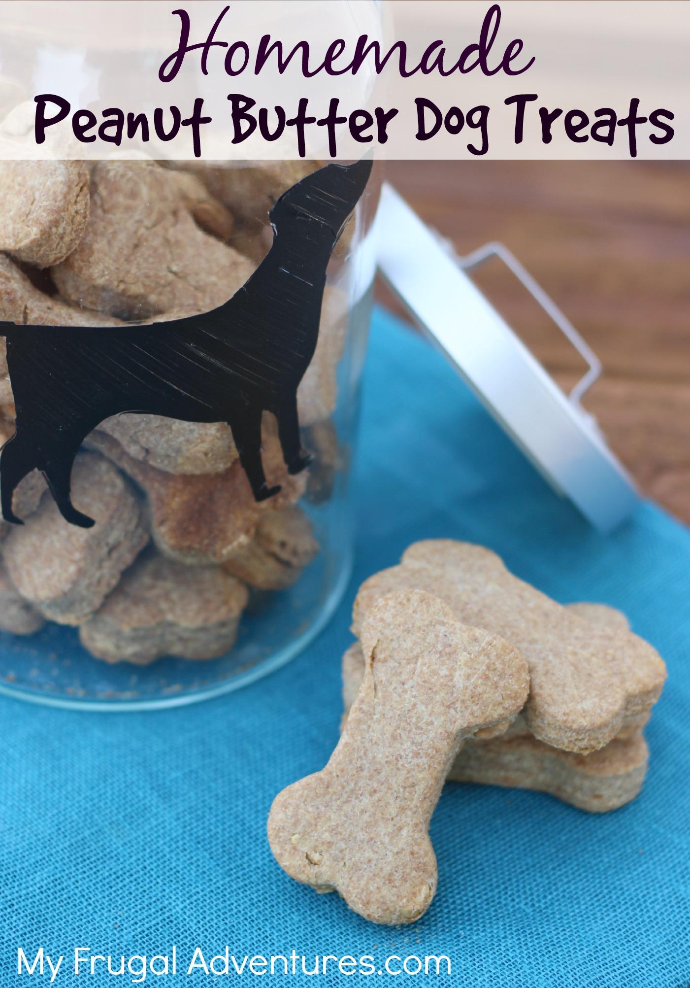 Homemade Peanut Butter Dog Biscuits (Copycat Milk Bones