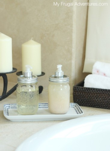 How to Make a Mason Jar Soap Dispenser- so fast and easy!