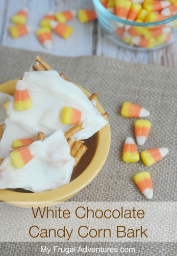 White Chocolate Candy Corn Bark- perfect for fall!