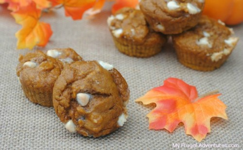 White Chocolate Chip Pumpkin Muffins