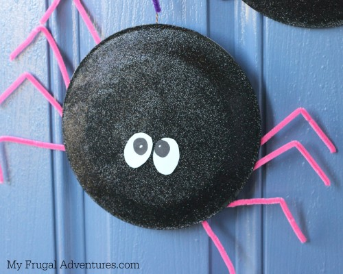 Halloween Craft for Kids- paper plate spider