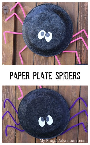 Halloween Craft Idea For Kids Paper Plate Spiders My Frugal