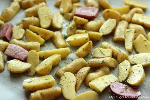 Rosemary Parmesan Roasted Fingerling Potatoes