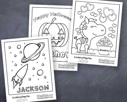 personalized coloring pages Free Personalized Coloring Pages for Kids   My Frugal Adventures personalized coloring pages
