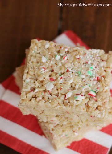 Candy cane Rice krispies recipe