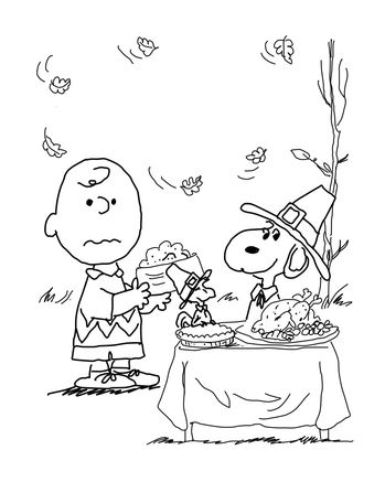 Free thanksgiving coloring pages my frugal adventures for Snoopy thanksgiving coloring pages