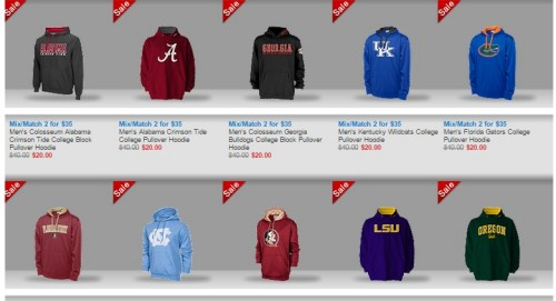 Right now, you can get 2 NCAA Hoodies from Finish line for just $ (These are normally $40 each so this is better than BOGO Free!) (These are normally $40 each so this is better than BOGO Free!) Order over $ worth and pay as little as $