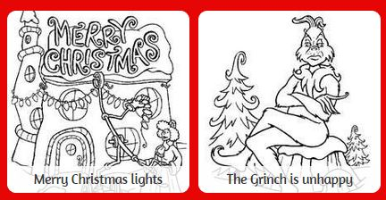 free christmas coloring pages for children grinch coloring pages