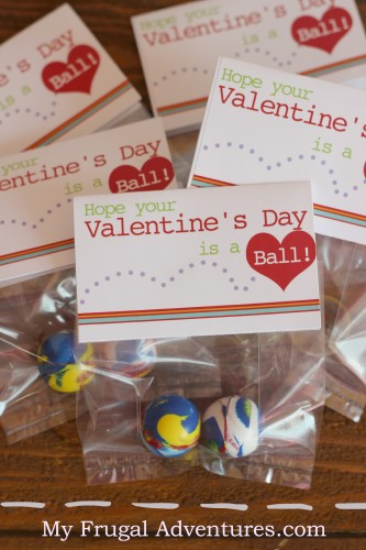Free Printable Bouncy Ball Valentine