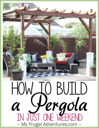 How to build a pergola for Diy free standing pergola