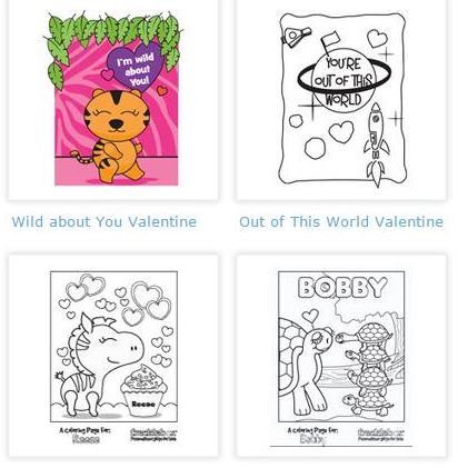 custom valentines from frecklebox